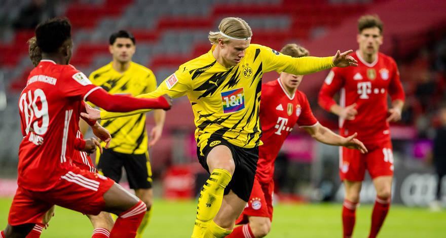 Haaland duplázott, majd megsérült, négy góllal válaszolt a Bayern a Der Klassikeren